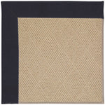 Creative Concepts-Cane Wicker Canvas Navy Machine Tufted Rug Rectangle image