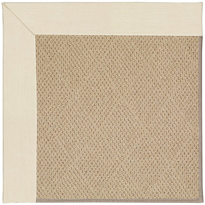 Creative Concepts-Cane Wicker Canvas Sand Machine Tufted Rug Rectangle image