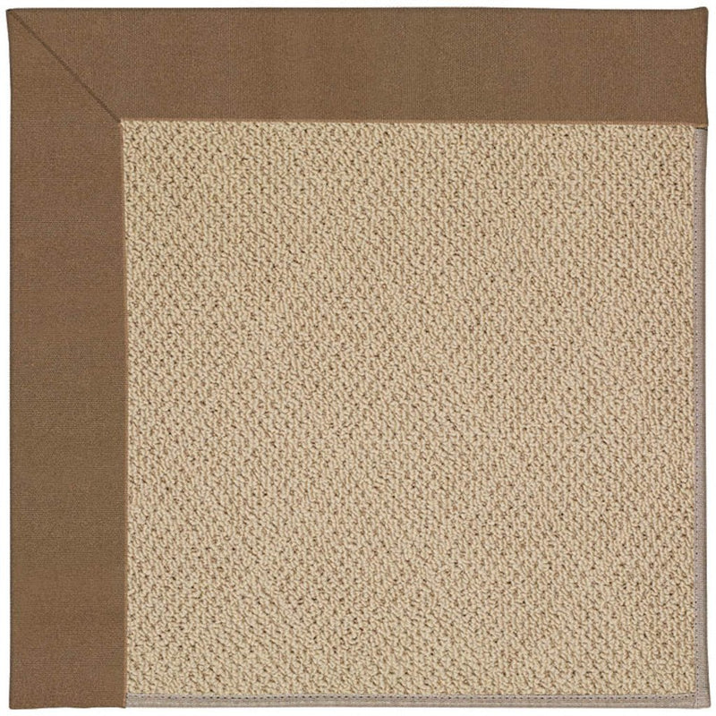 Creative Concepts-Cane Wicker Canvas Cocoa Machine Tufted Rug Rectangle image