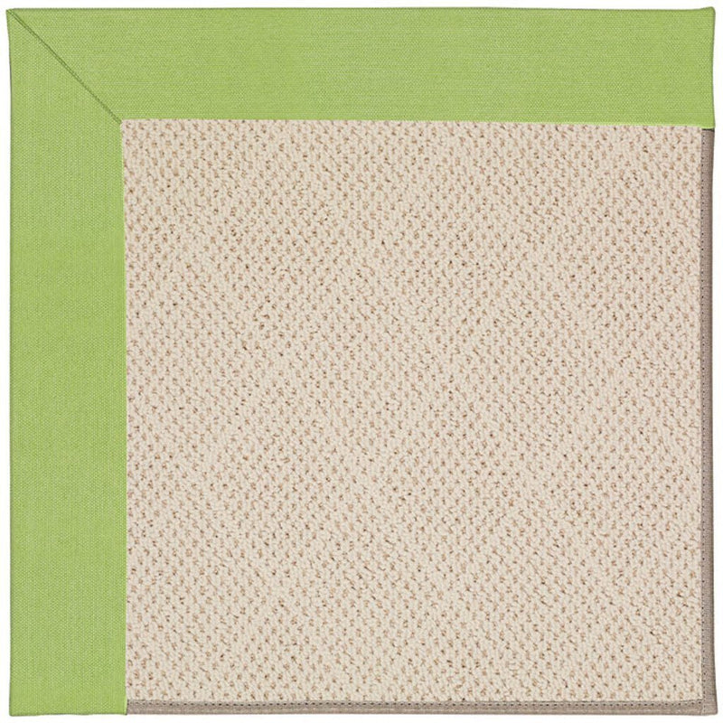 Creative Concepts-White Wicker Canvas Parrot Machine Tufted Rug Rectangle image