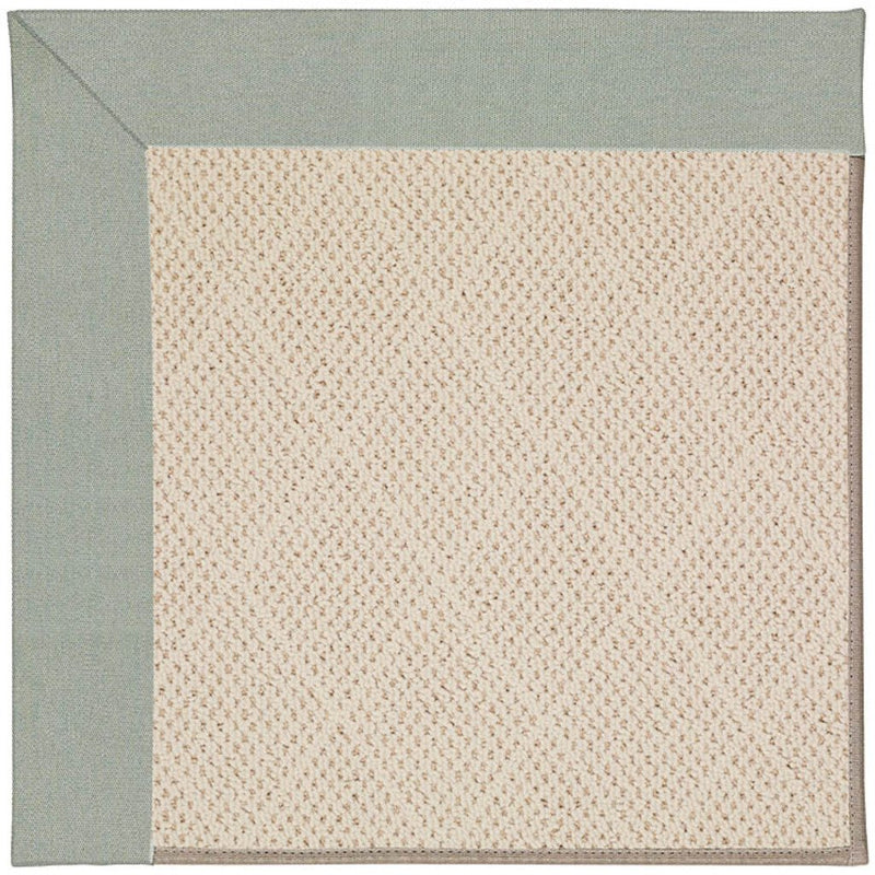 Creative Concepts-White Wicker Canvas Spa Blue Machine Tufted Rug Rectangle image