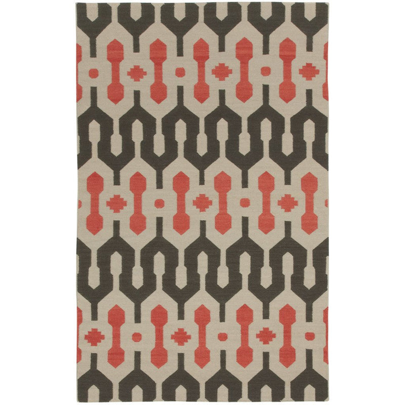 L'Alhambra Pigeon Salmon Flat Woven Rug Rectangle image