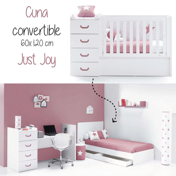 Cuna convertible en cama Just Joy Rose
