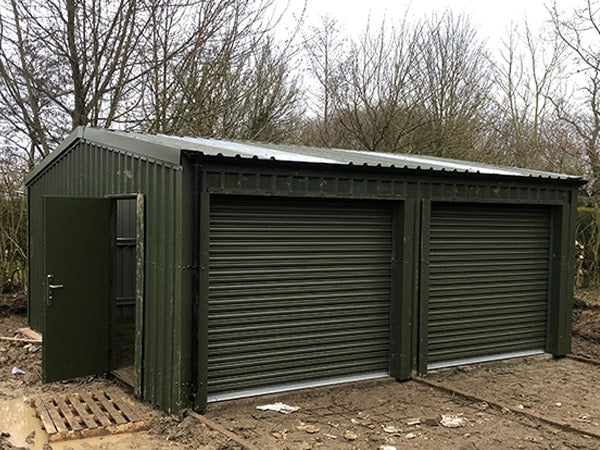 Double Garage Completed