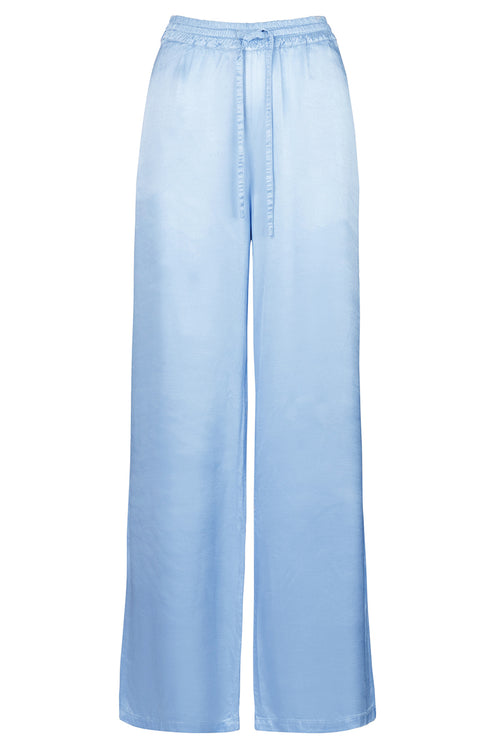 The Satin Lounge Pant - Bluebell