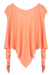 The Asymmetric Hem Top - Peach Sorbet