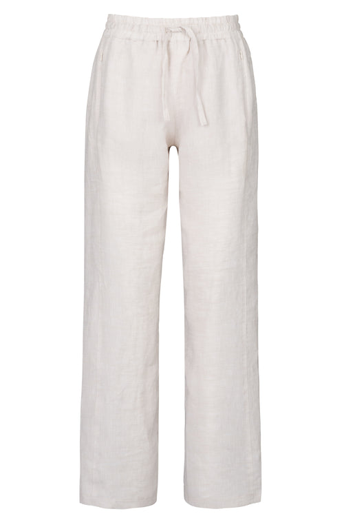 The Linen Trouser - Sandy Neutral