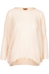 The Lightweight Dip Hem Jumper - Crema