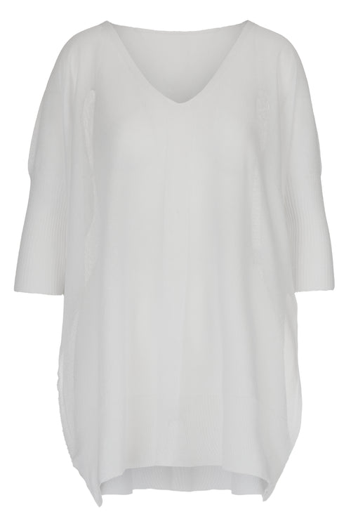 The Knitted Kaftan - White