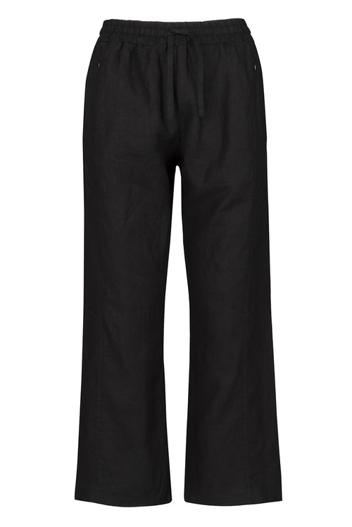 The Linen Cropped Comfort Trouser