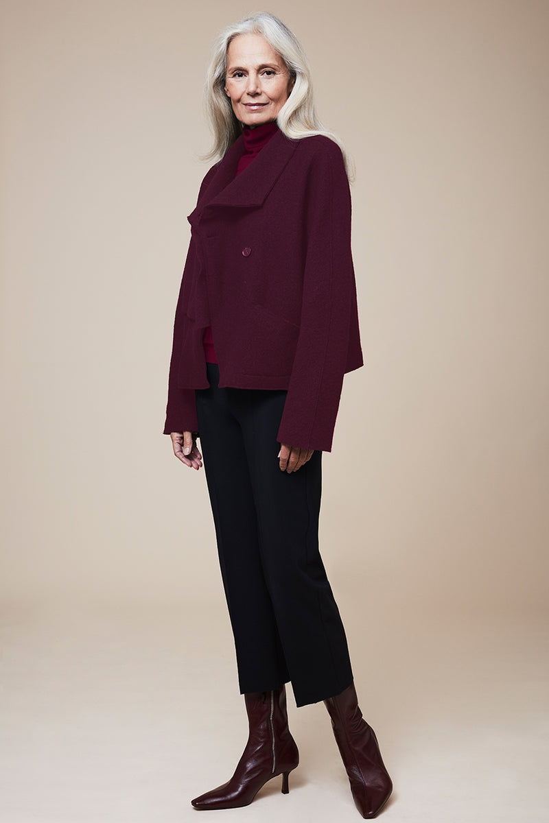 The Viscose Blend Roll Neck - Loganberry