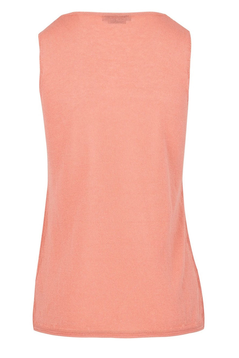 The Vee Neck Knitted Vest - Rose
