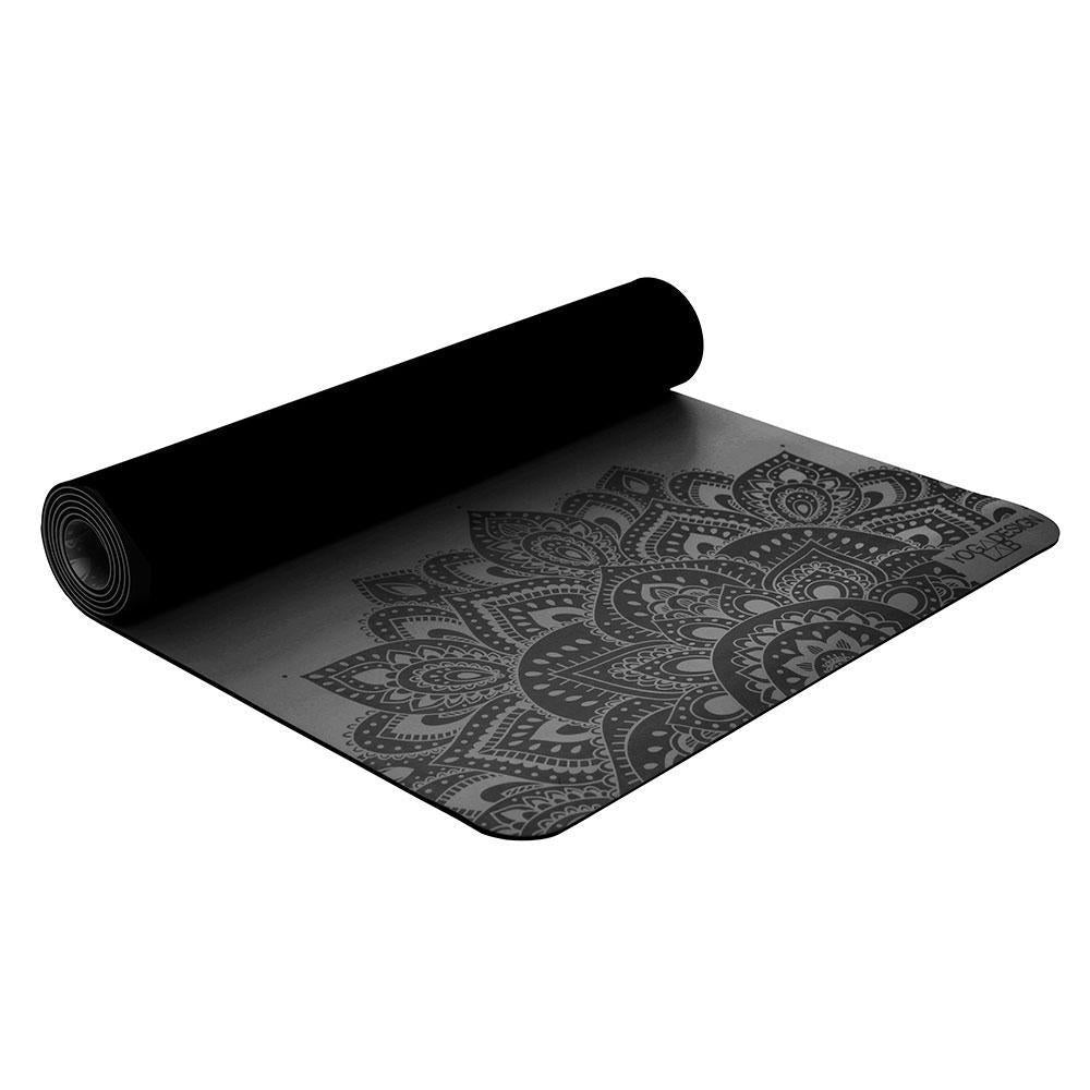 Infinity Yoga Mat 5mm Mandala Charcoal