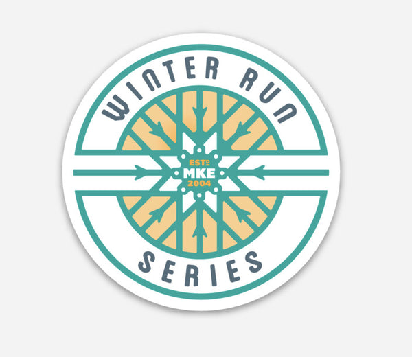 Winter Run Series Logo Sticker