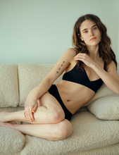 Load image into Gallery viewer, Organic cotton Bralette and Boy Shorts
