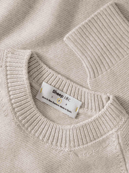 The Medium Knit - Wool white