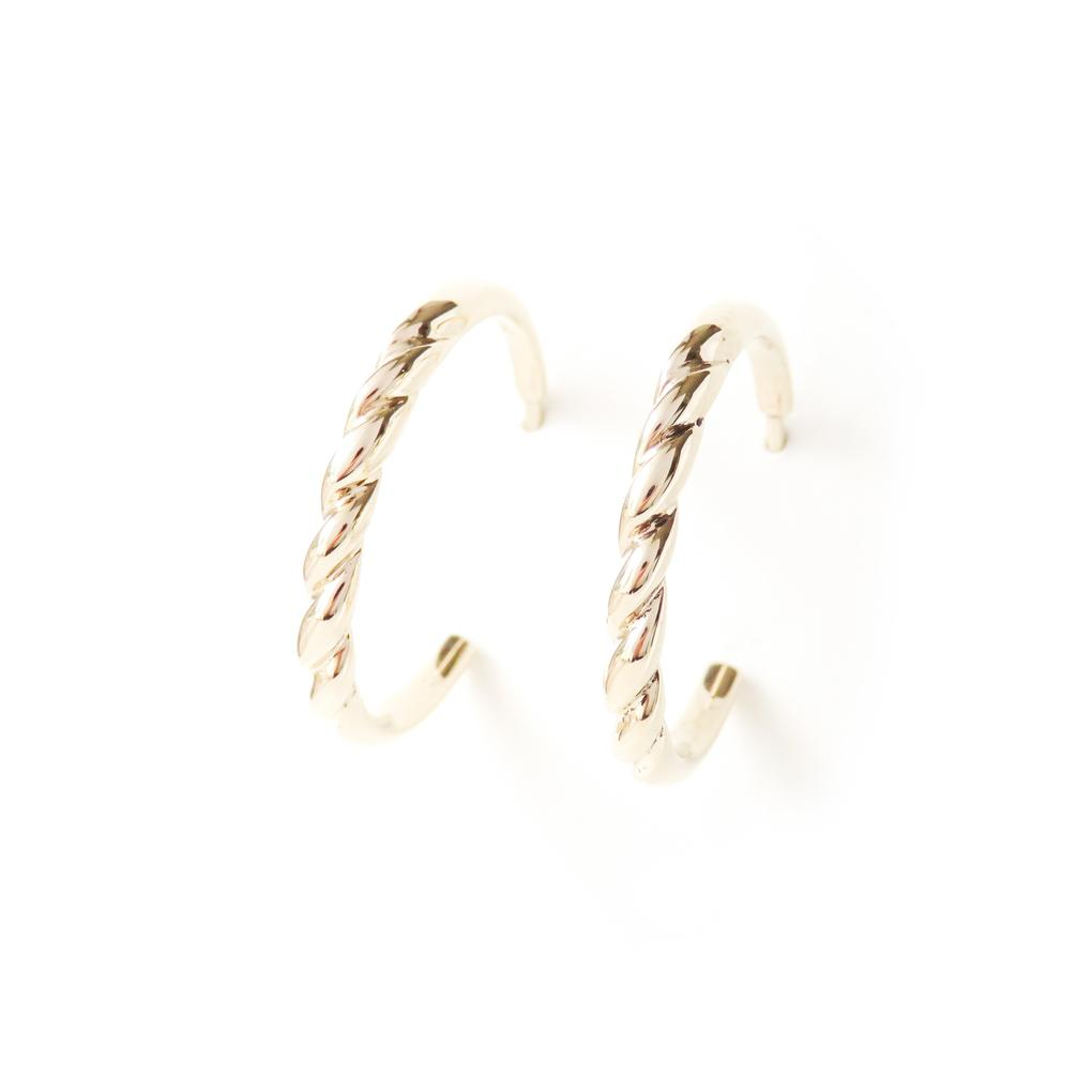 The Contour Earrings - Gold