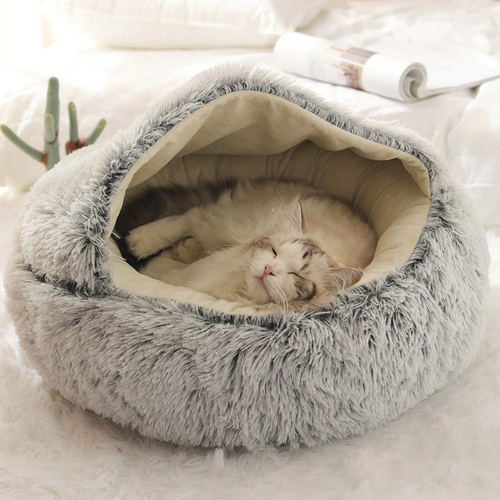 #1 Fluffy Calming Pet Cave - San Frenchie