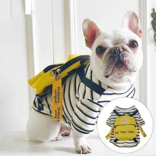 Tee Shirt w/ attached Backpack for Dogs - San Frenchie