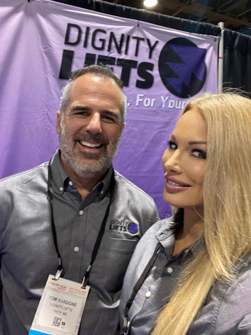 Tom and Lana from Dignity Lifts