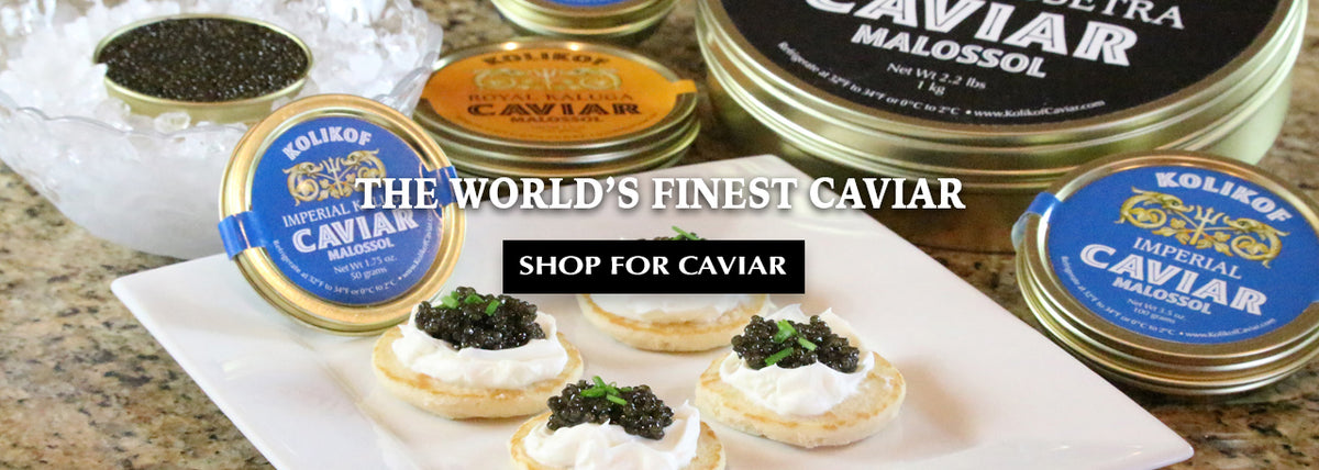 Best Sturgeon Caviar and Ossetra by Kolikof