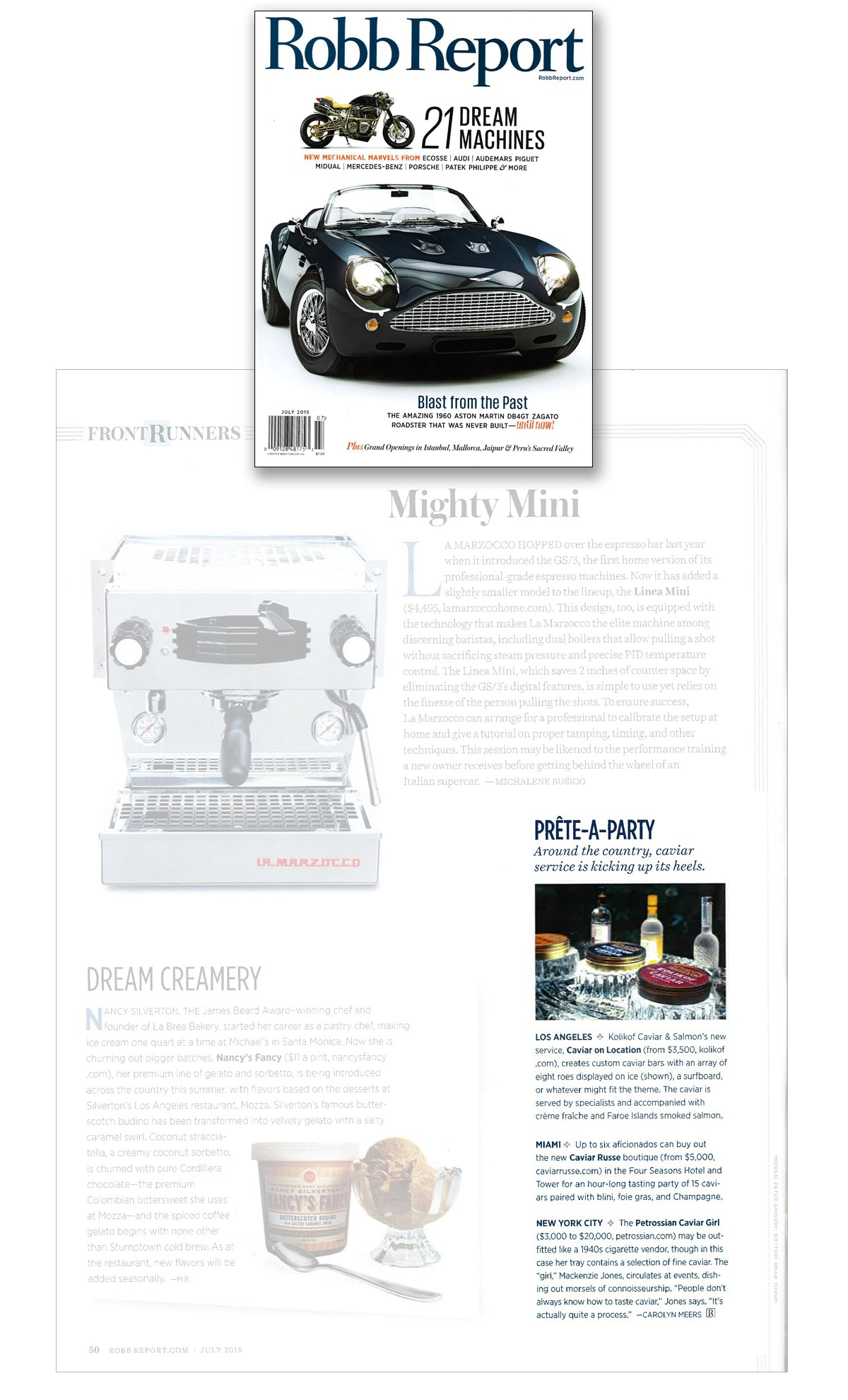 Kolikof Caviar as seen in Robb Report July Dream Machines