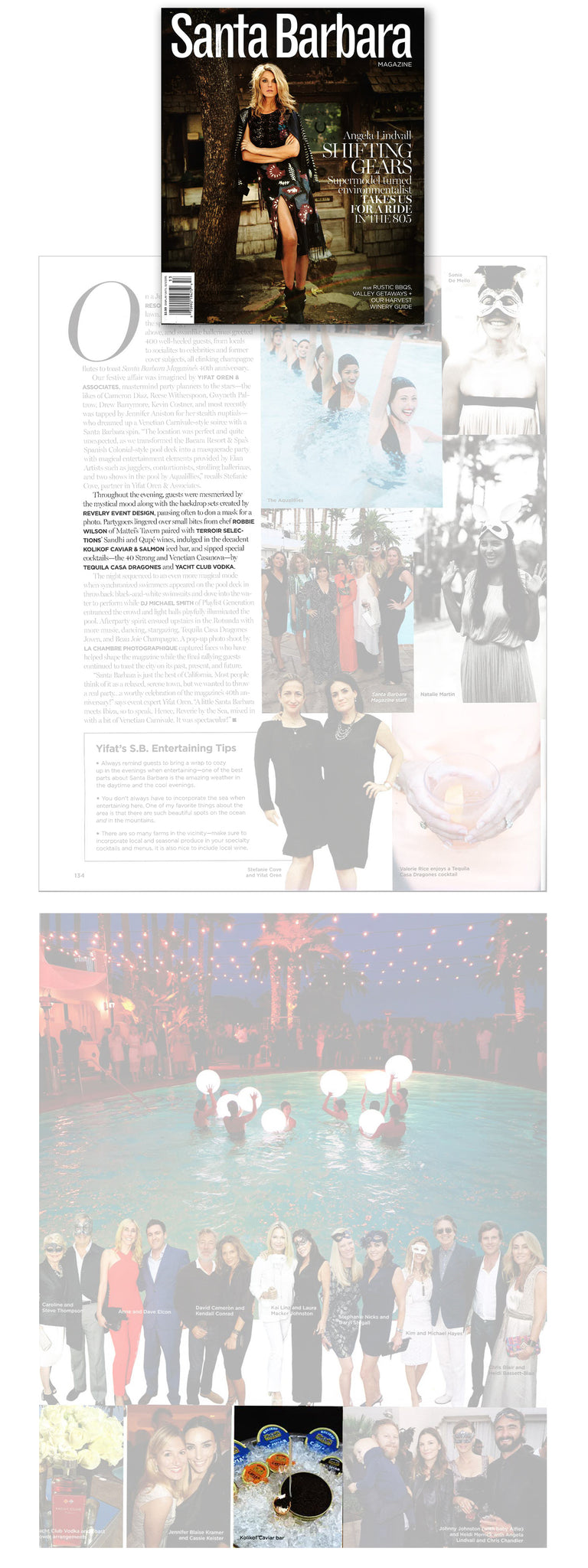 Kolikof Caviar attends Santa Barbara Magazine 25th Anniversary Party