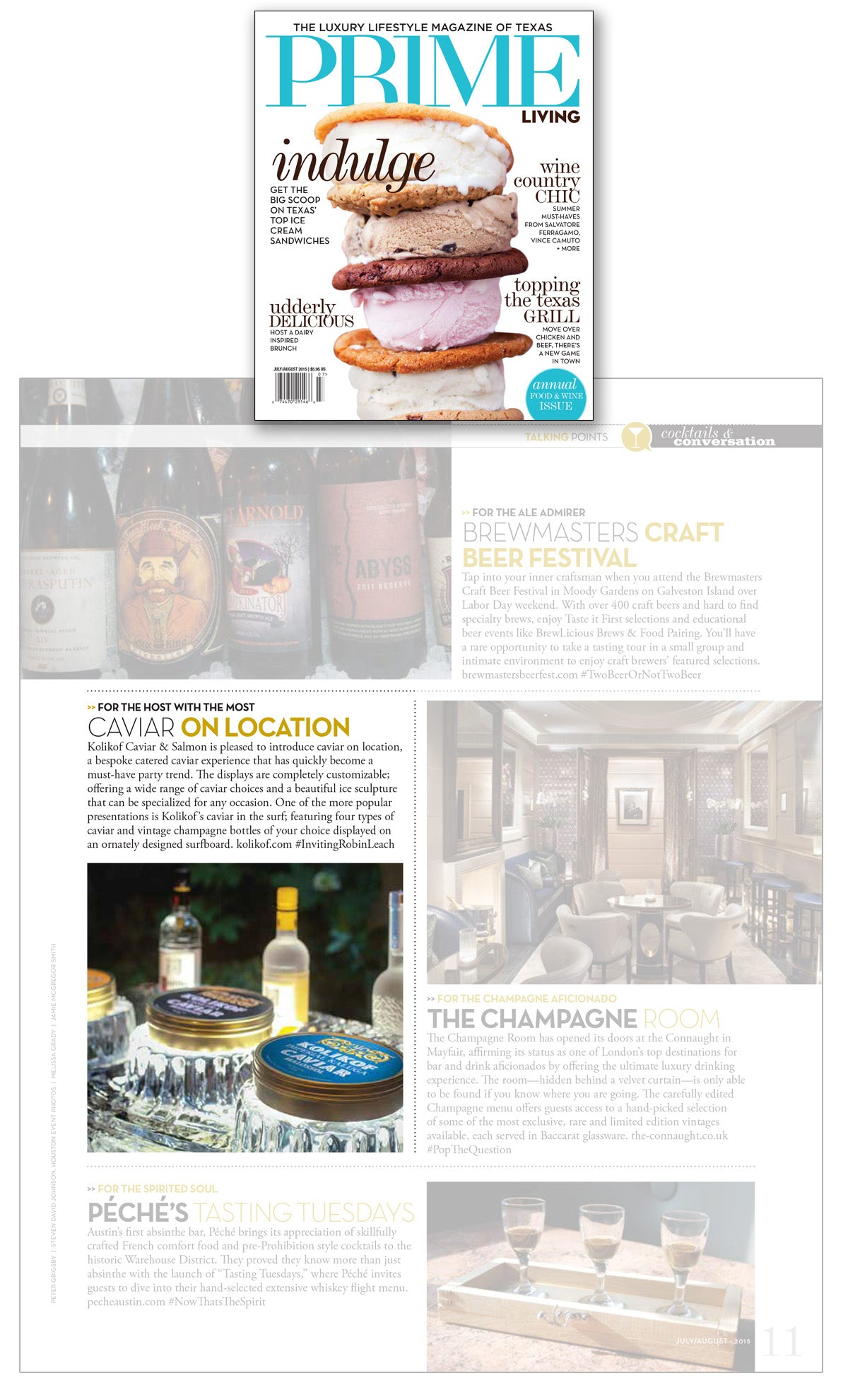 Prime Living Magazine features Kolikof Caviar