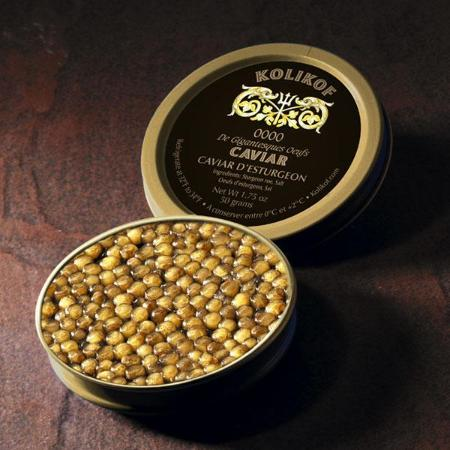 Rarest caviar, 0000 larger than Beluga Caviar