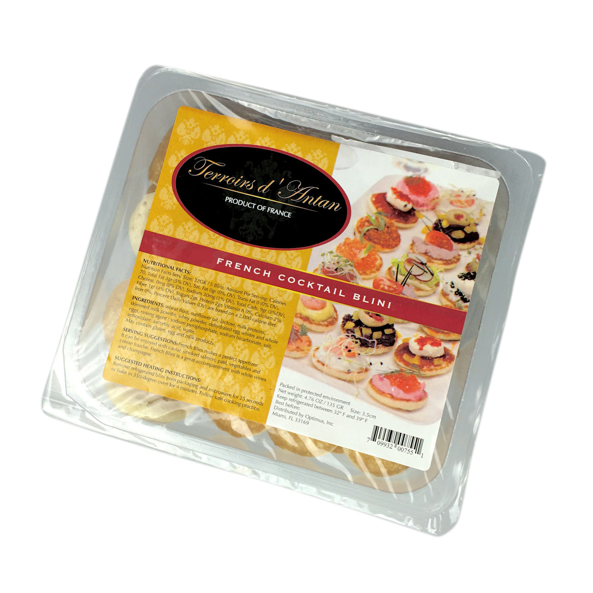 Buy French Cocktail Blinis for the Finest Caviar in the World, Kolikof.