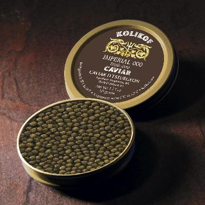 Imperial Russian 000 (Triple Zero) Caviar is the best caviar and the largest grain