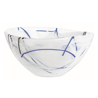 Kosta Boda Contrast Bowl in white