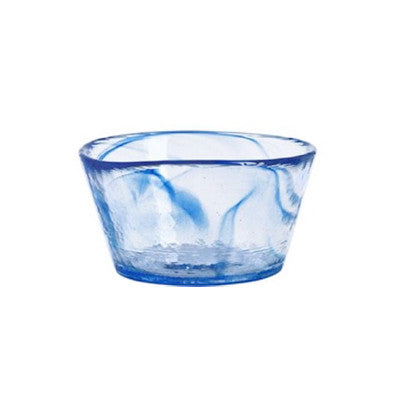 "Kosta Boda Small ""Mine"" glass bowl, blue"