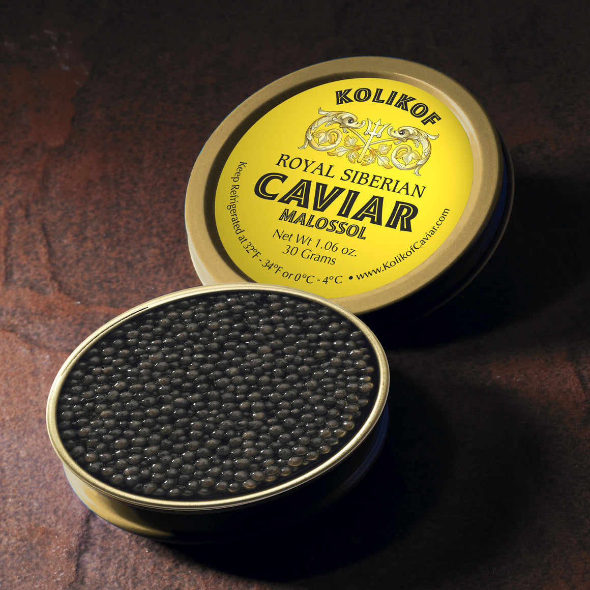 Buy Siberian Sturgeon Caviar Online. Kolikof Brand Caviar is Superb and Recommended by Private Chefs.