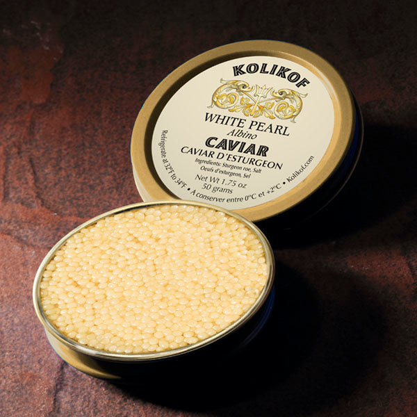 White Albino Caviar (White Pearl) by Kolikof, the finest caviar in the world