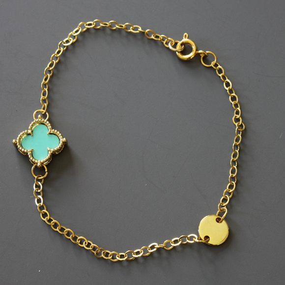 Shamrock and Dot Connector Bracelet