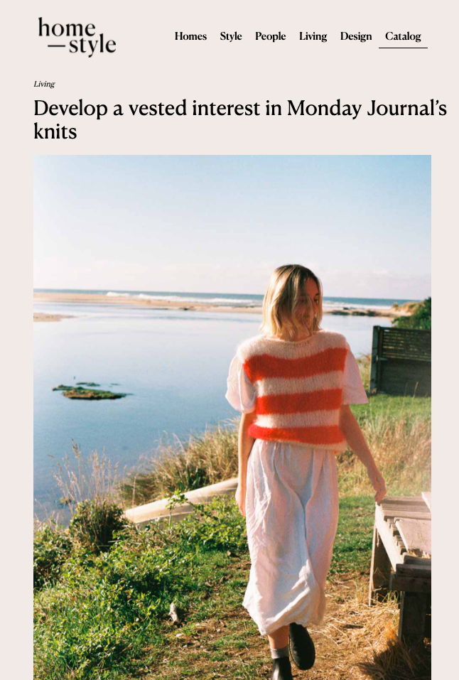 Homestyle | Monday Journal Article