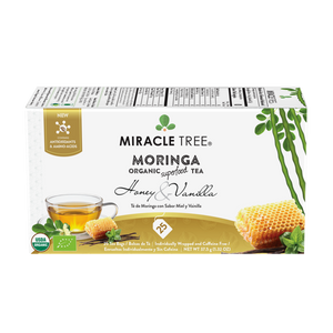 Miracle Tree Organic Moringa Tea Honey Vanilla