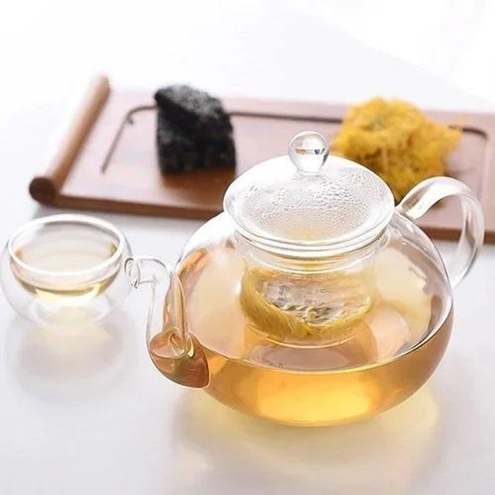 [A] Thermo Glass Tea Pot 20 Fl Oz | 620 Ml WL-888812/A