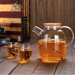 Load image into Gallery viewer, [A] Thermo Glass Tea Pot 54 Fl Oz | 1600 Ml WL-888811/A