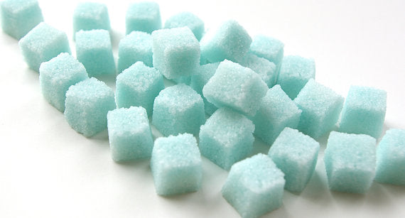 Blue Sugar Cubes for Tea Party and Champagne Toast