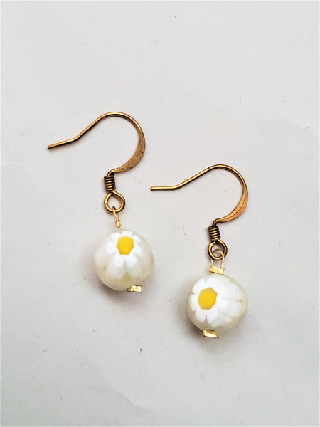Bria Earrings | White