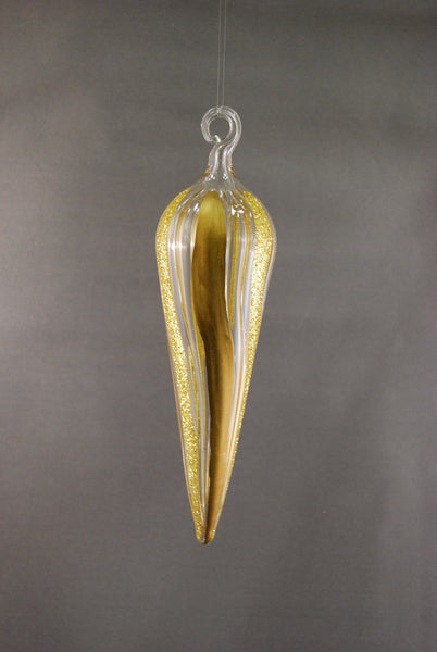 Gold Glitter Tear Drop Ornament - 50% OFF!
