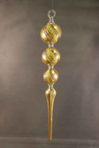 Gold Icicle Ornament - 50% OFF!