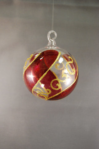 Cranberry Red Sphere Ornament - 50% OFF!
