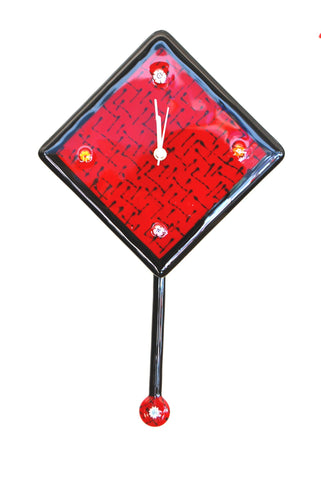 Red Glass Clock