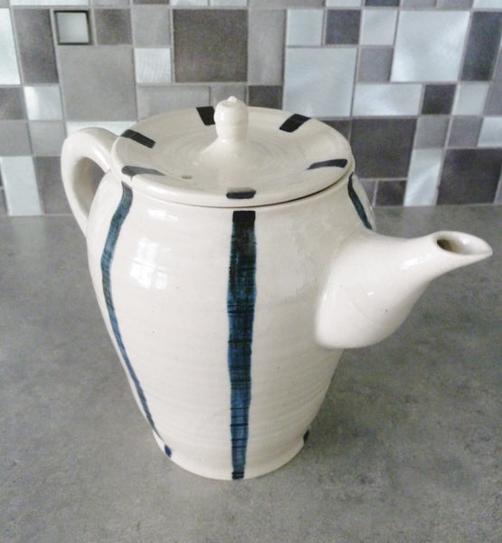 Stripe Tea Pot