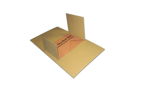 Hardcover Book Mailer from Kebet Packaging in recyclable cardboard