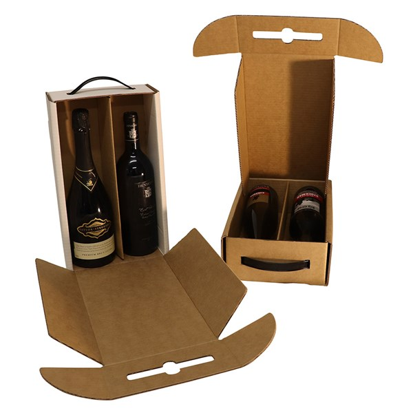 2 bottle cellar door printed from Kebet Packaging in recyclable cardboard