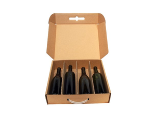 4 bottle cellar door from Kebet Packaging in recyclable cardboard
